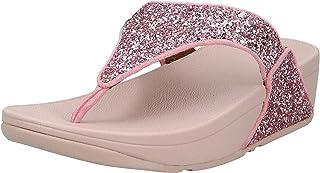 FITFLOP Lulu Glitter Toe-Thongs, Women's Thong Sandals - Red (Rose), 40 EU