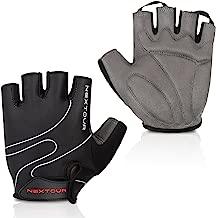Tanluhu Cycling Gloves Mountain Bike Gloves Half Finger Road Racing Riding Gloves with Light Anti-Slip Shock-Absorbing Biking Gloves for Men and Women