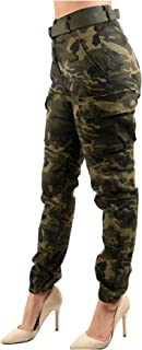 Women's High Waist Slim Fit Jogger Cargo Camo Pants for...
