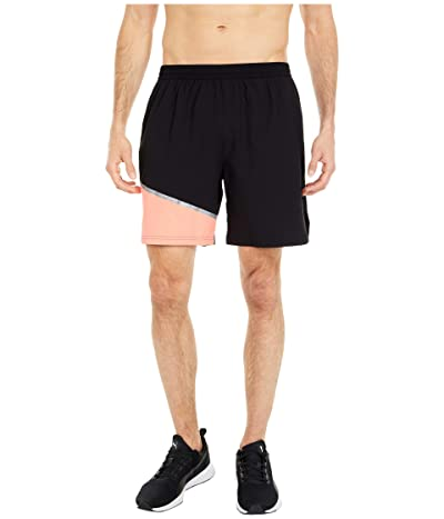 PUMA Run Woven 7 Shorts (Puma Black/NRGY Peach) Men