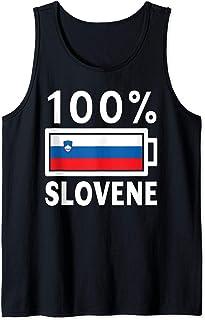 Slovenia Flag Design   100% Slovene Battery Power Tee Tank Top