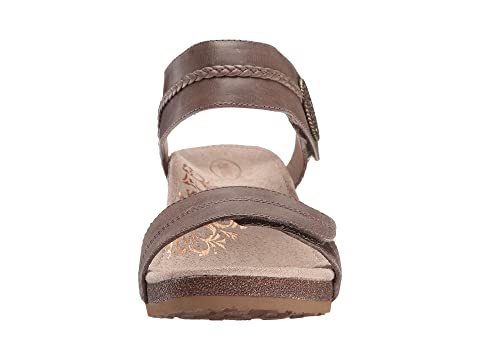 Aetrex Arielle Wedge Sandal Stone Professional Sale Online Buy Cheap Cheapest How Much Manchester Great Sale Sale Online Discount Wholesale Price zhyoMDpqP