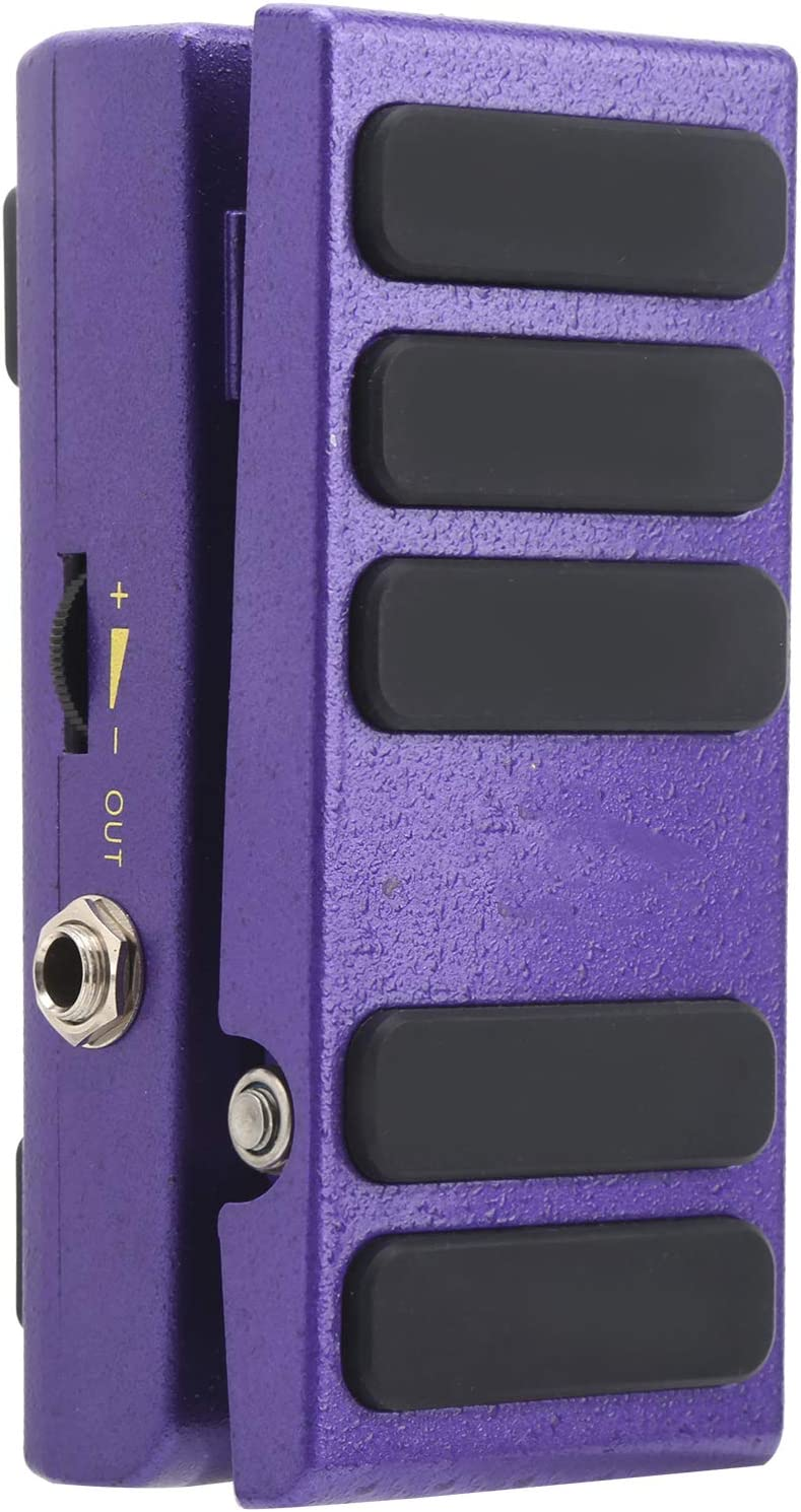 Pedal Wah ‑ Wah 2 ‑ en ‑ 1 Control de Interruptor de Pedal Modo Wah Pedal de Volumen con Almohadilla Antideslizante Accesorios para Guitarra Eléctrica(púrpura)
