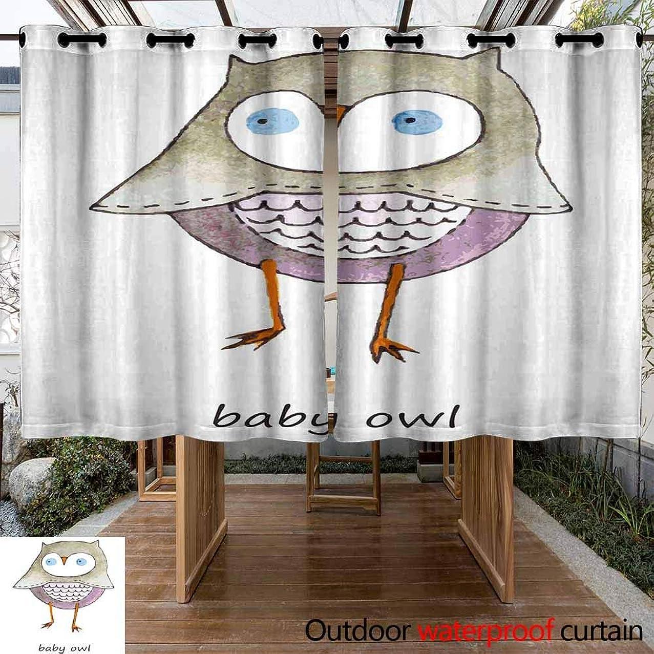 VIVIDX Patio Outdoor Curtain?UV Privacy Drape?Thick Waterproof Fabric?Heavy Duty Indoor Panel?for Porch Balcony Pergola Lanai Canopy Tent Gazebo Window, W72x45L