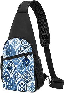 PGTry Arabesque Tile Art Sling Bolsa de hombro ligera mochila para el pecho, bolsa cruzada, bolsas de viaje, senderismo, p...