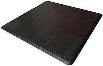 SnapFloors 3X3 Ebony Floor Modular Dance Floor Kit (3' x 3'), Ebony, 21 Piece