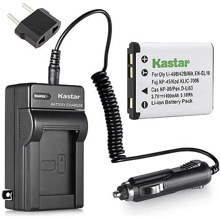 1200mAh, 3.7V, Li-Ion Olympus VH-210 Battery /& Charger Set for LI-42B LI-40B Digital Camera Battery /& Charger Kit
