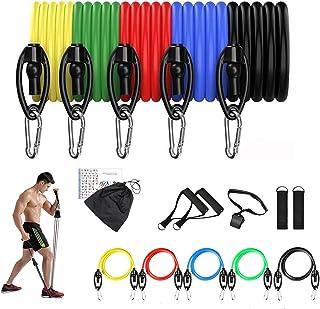 Resistance Bands Figure 8 Exercise Band Resistance Loop for Back Shoulder Neck Stretching Yoga Bands Bestfik Exercise Loop...