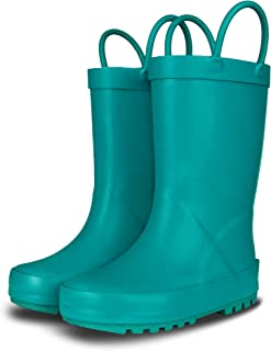 LONECONE Elementary Collection - Premium Natural Rubber Rain Boots with Matte Finish for Toddlers and Kids