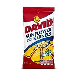DAVID Roasted and Salted Original Sunflower Kernels, 3.75 oz