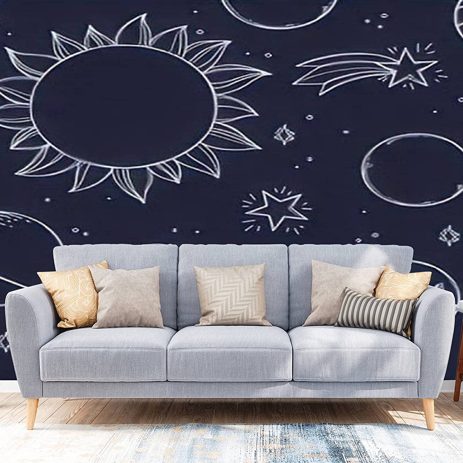 Wallpaper Peel Max 58% OFF and Nippon regular agency Stick Space Drawn Background Hand Illustratio