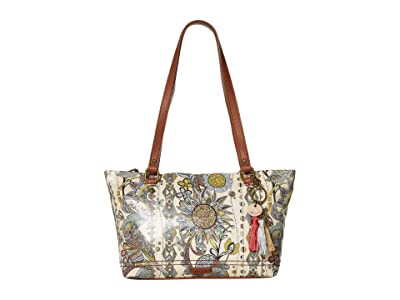Sakroots Artist Circle Small Satchel (Sunshine Spirit Desert) Tote Handbags