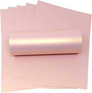 A4 Card Rose Gold Pink with Gold Pearlescent Shimmer Decorative 300gsm / 110lb Card Stock (10)