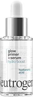 Neutrogena Hydro Boost Glow Booster Primer & Serum, Hydrating & Moisturizing Face Serum-to-Primer Hybrid, Infused with Pur...