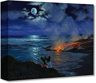 Disney Fine Art Watching Nature's Creation by Walfrido Garcia Treasures on Canvas Mickey and Minnie Mouse 12 Inches x 16 Inches Reproduction Gallery Wrapped Giclée on Canvas Wall Art