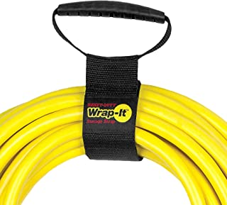 """Easy-Carry Wrap-It Storage Straps - 17"""" (2 Pack) – Heavy-Duty Hook and Loop Cord Carrying Strap, Hanger, and Organizer with Handle for Extension Cords, Electric Cables, Hoses and More"""