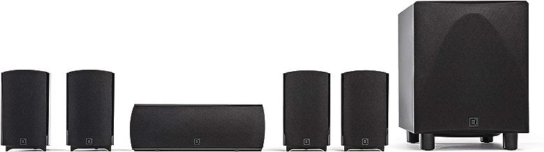 Definitive Technology ProCinema 6D - Compact 5.1 Channel Home Theater Speaker System (2019 Model)   250-Watt Powered Subwoofer, Center Channel + 4 Speakers   Sleek, Modern Looks Match Any Décor, Black