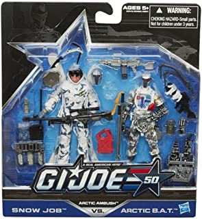 Hasbro G.I. Joe, 50th Anniversary Action Figure Set, Arctic Ambush [Snow Job vs. Arctic BAT], 3.75 Inches