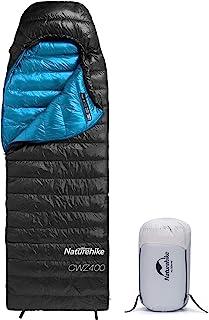 Naturehike ダウン寝袋 シュラフ 封筒型 コンパクト 超軽量 1人用 アウトドア キャンプ 登山 車中泊 ツーリング ハイキング 防水 保温 550FP 両サイズ 四季使用可能 収納袋付き