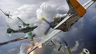 DROB Collectibles WWII Airplane DOGFIGHT Mustang WAR Plane Fighter 01 Poster Mural - Photography Art 17