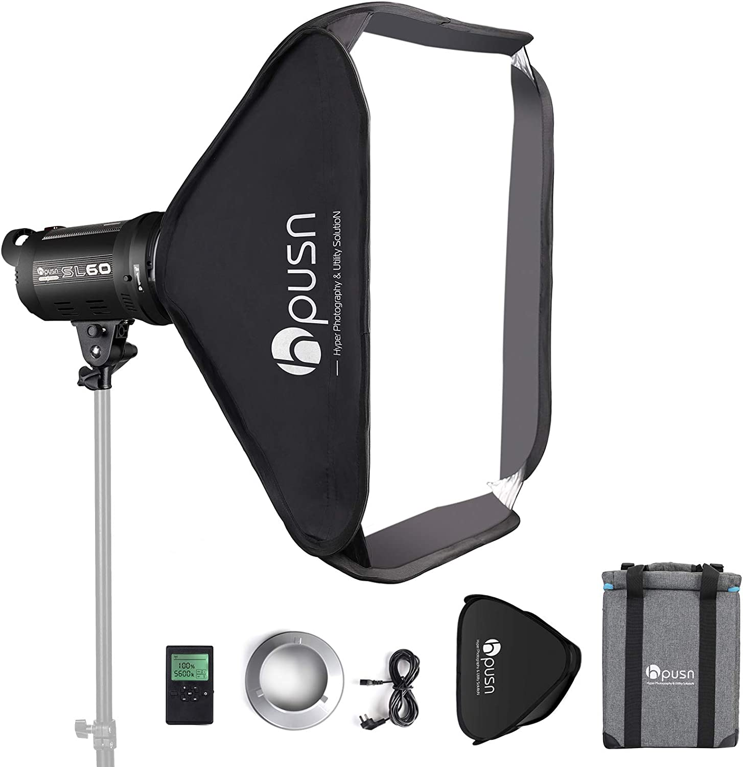HPUSN OFFicial mail order SL-60W In stock 60W CRI 95+ LED Video 90+ R Light TLCI with 5600K