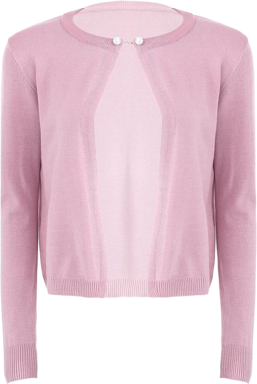 Nimiya Womens Bolero Shrug Cardigan Jacket Open Front Knitted Cropped Cardigan Sweaters Spring Autumn Casual Wear