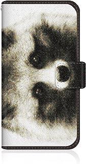 CaseMarket 【手帳型】 apple iPhone 6  (iPhone6) スリムケース ステッチモデル [ CaseMarket Zoo I love Animals ! - ホンド タヌキ ] iPhone6-VCM2S2572