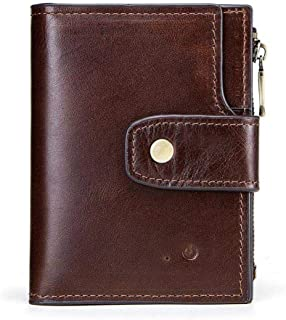 Wallet Credit Card HolderHigh-end Men's Wallet Smart Bluetooth Anti-Lost Anti-Theft Multifunction @Brown