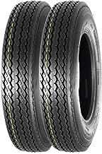 MaxAuto Highway Boat Motorcycle Trailer Tires 5.30-12 5.30x12 6PR Load Range C P811, Set of 2