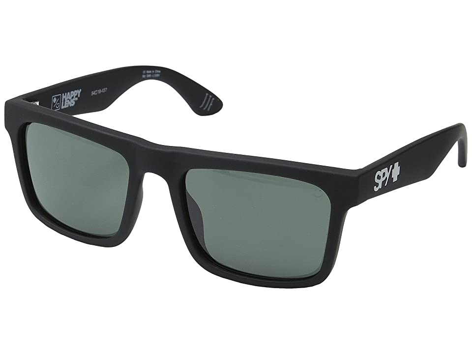 Spy Optic Atlas (Soft Matte Black/Happy Gray Green) Athletic Performance Sport Sunglasses