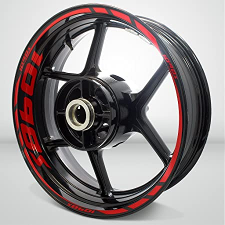 10X DUCATI HYPERMOTARD MOTORCYCLE BIKE WHEEL STICKERS DECALS TAPE RIMS RED