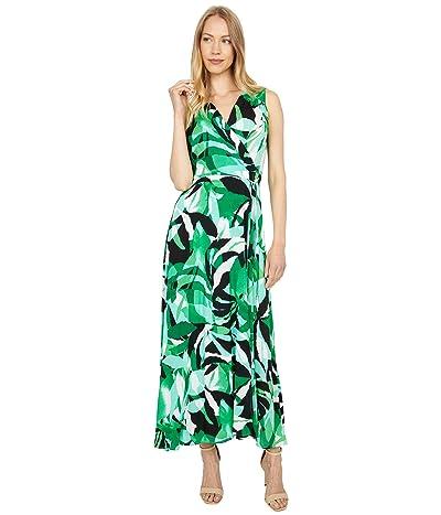 Calvin Klein Tropical Print Maxi with Tie Waist Women