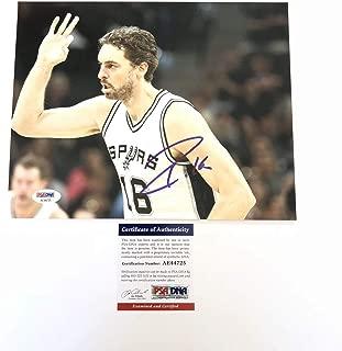 Pau Gasol Autographed Signed 8x10 Photo PSA/DNA San Antonio Spurs Autographed Signed