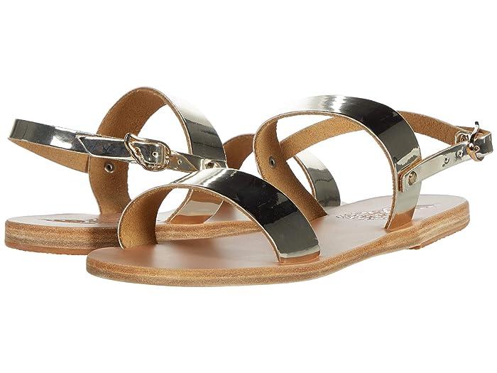 Ancient Greek Sandals  Clio (Mirror Platinum) Womens Sandals