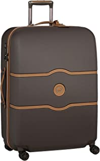 Delsey Paris Chatelet Air 77 cm 4 Double Wheels Trolley Suitcase (Softside), Chocolate (00167282006)