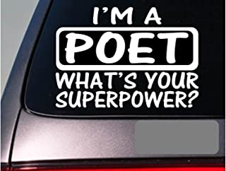 I'm a poet sticker decal *E177* wordsmith rapper poetry rhyme thesaurus