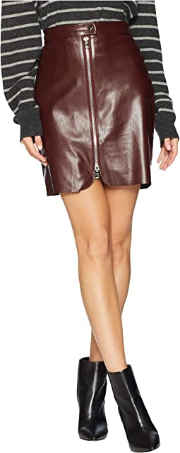 Exposed Zip Mini Skirt