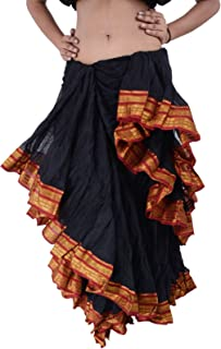 25 Yard American Tribal Style Dance Cotton Tiered Flounce Maxi Full Skirt
