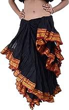 25 Yard American Tribal Style Dance Cotton Tiered Flounce Maxi Full Skirt