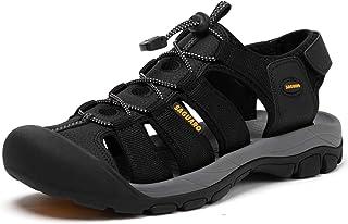 صندل رجالي للتنزه في الهواء الطلق صندل رياضي مغلق من الأصابع مسامي صنادل رياضية صيفية أحذية مائية