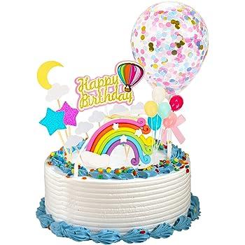 Strange Husdow Rainbow Birthday Cake Topper Happy Birthday Cake Birthday Cards Printable Giouspongecafe Filternl