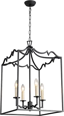 AA Warehousing X5-4 X5-4 Candle Style Chandelier, Aged Iron Finish