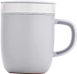 ARTIART (Taiwan) Vitality Sky Ceramic Suction Mug with Airtight Lid, Patented Design & Suction Technology, Temperature Ret...