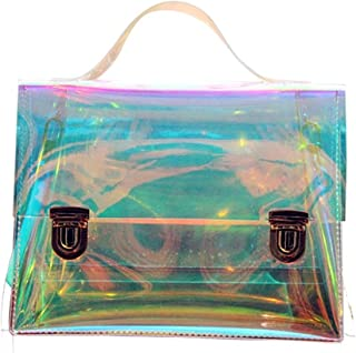 OnIn Womens Hologram Transparent Retro Messenger Bag Shoulder Bag