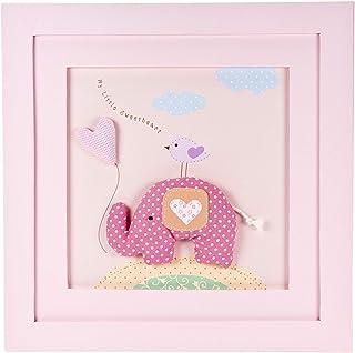 Mousehouse Gifts Cadre Photo Rose Petit éléphant pour décorer Une Chambre de Petite Fille