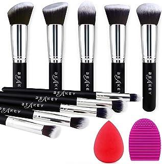 BEAKEY Makeup Brush Set, Premium Synthetic Foundation Face Powder Blush Eyeshadow Kabuki Brush...