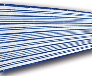 ALION HOME Mediterranean Style Privacy Screen for Pool, Porch, Patio, Deck, Balcony, Railing, Fence. 3 FT Height Blue/White (3' x 10')