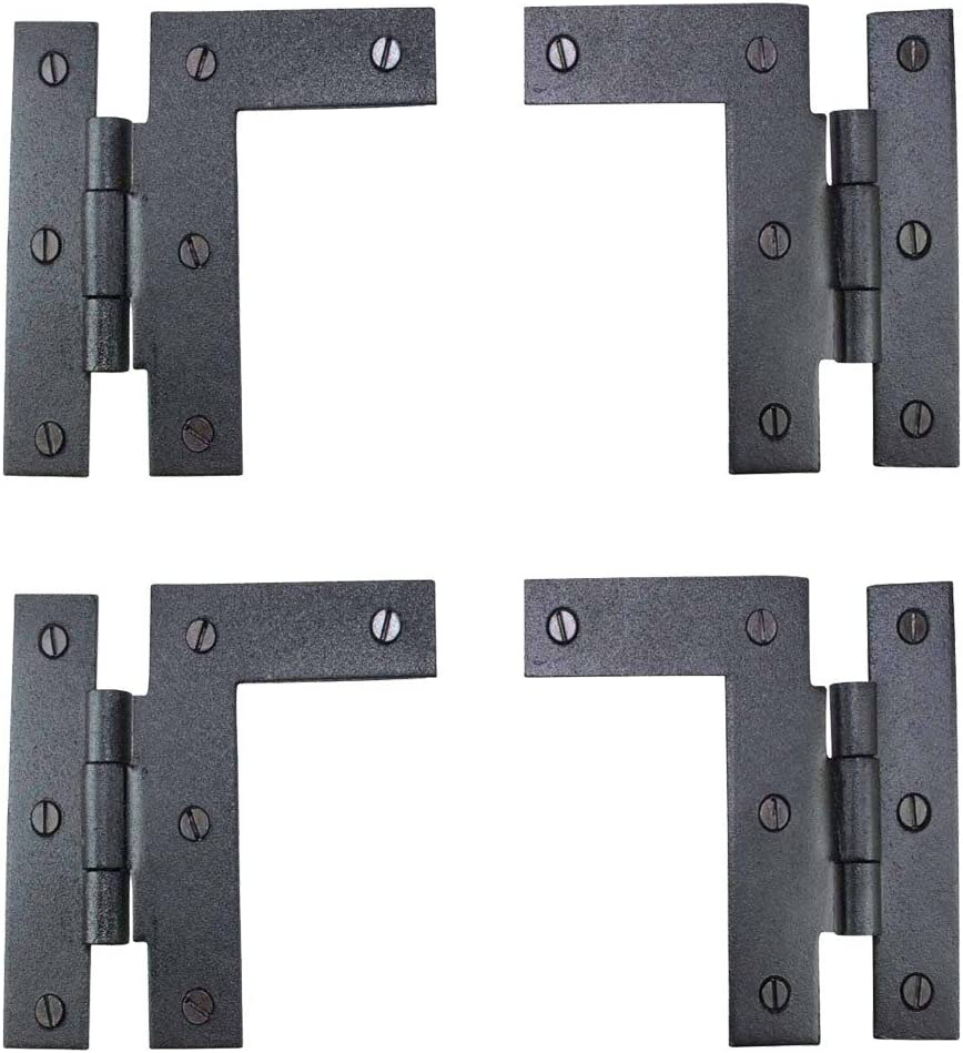 Wrought Iron Hinges Pair Left and H Hinge Cheap mail order sales H-L Right Ranking TOP9 3.5