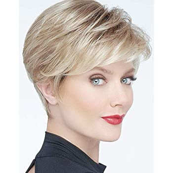 Sexy COUGAR Lady Quality Wig mixed DARK BLOND PLATINUM