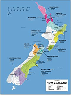Wine Folly New Zealand Wine Map Poster Print, 12